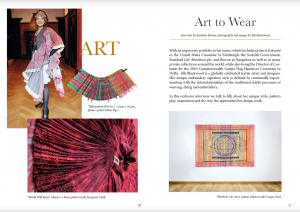 Art to wear art for the wall