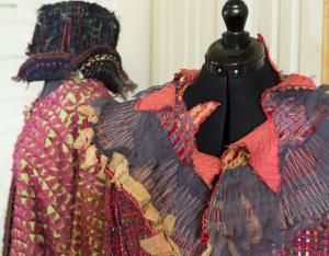 Embroidered collar and embroidered kimono