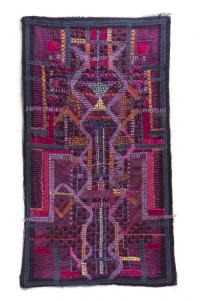 Embroidered textile wall hanging European Craft Exhibition Kuwait